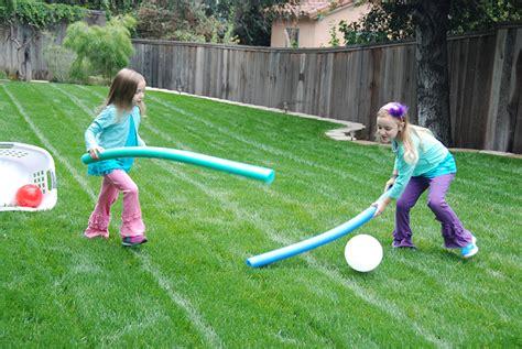 Backyard Using Pool Noodles Inside Outdoor Field Hockey Disney Inspired