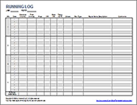 5 best images of printable running journal printable