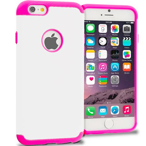 Slim For Iphone 55s Pink pink white hybrid slim soft shockproof armor cover for apple iphone 6 6s 4 7