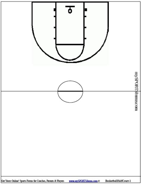 basketball key template free printable basketball court diagrams image search results
