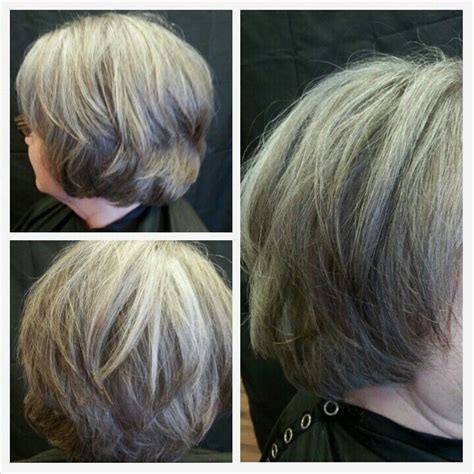 salt and pepper hair with brown lowlights 17 best images about beauty on pinterest older women