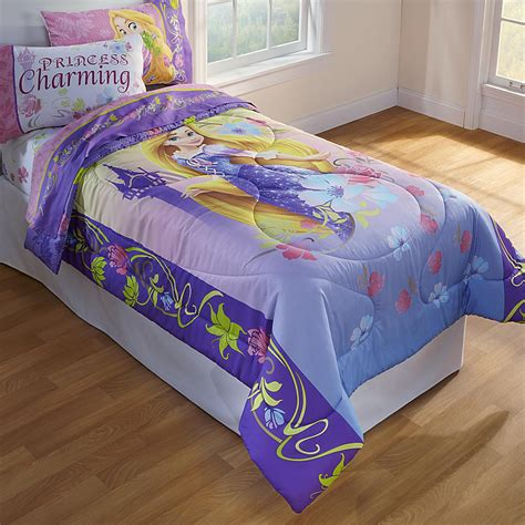 kmart comforters twin disney girl s tangled twin comforter home bed bath