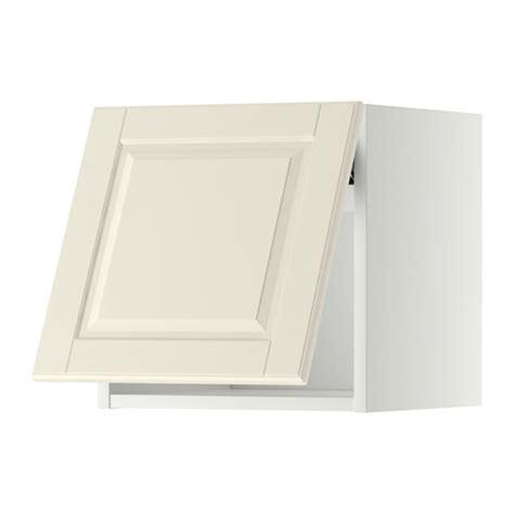 wandschrank horizontal mit vitrinentür metod wandschrank horizontal wei 223 bodbyn elfenbeinwei 223