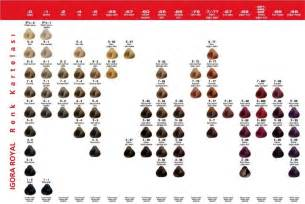 igora hair color chart