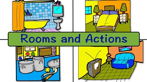 rooms and actions at home easy conversation