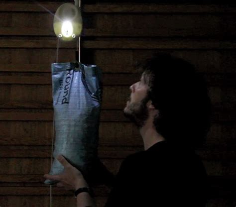 Gravity Powered Light by Ballast Bulb A Bulb That Glows Using Gravity