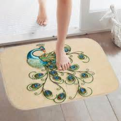 peacock bathroom rug reviews online shopping peacock