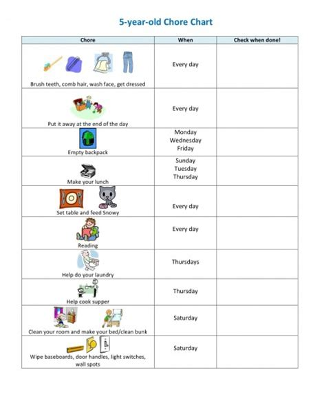 chore charts for 6 year olds yahoo image search results children s chore chart challenge parents child behavior