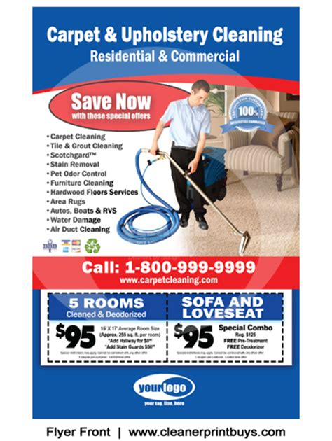 Free Carpet Cleaning Business Cards Templates by Carpet Cleaning Flyer 8 5 X 5 5 C0006