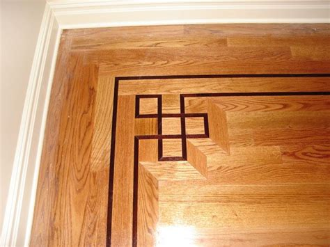 Hardwood Floor Borders Ideas Wood Floor Border For The Home