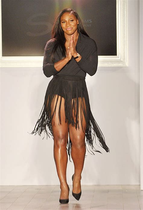Serena Williams Wardrobe by Serena Williams Supported By New Boyfriend At Nyfw