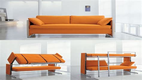 Bunk Beds With A Sofa Modern Living Room Design With Convertible Bunk Beds And Orange Doc Sofa Bunk Bed In Usa