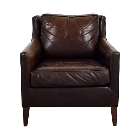 pottery barn leather armchair 62 off pottery barn pottery barn brown leather armchair