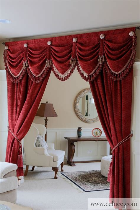 drapery valance pin by ce luce curtains on window treatments swag