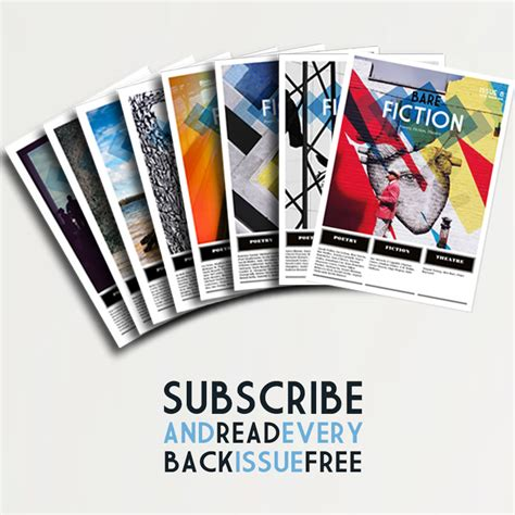 magazine subscription bare fiction magazine subscription 3 print issues free