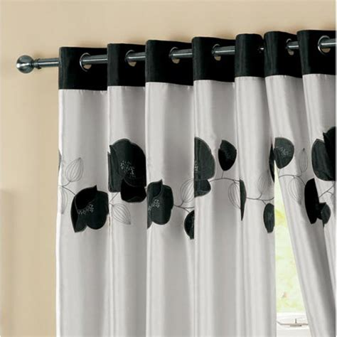 black patterned eyelet curtains curtina daniella black floral eyelet readymade curtains