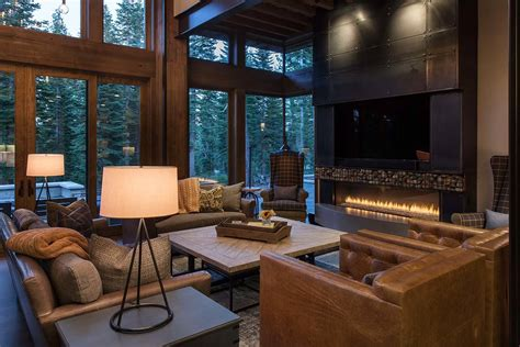 interior designer for home lake tahoe getaway features contemporary barn aesthetic