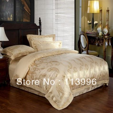 100 cotton comforter sets queen luxury gold jacquard 100 cotton bedding set queen king