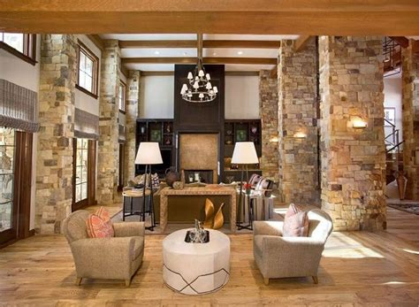 great home designs columns and beams frame this great room a