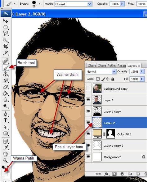 tutorial gambar karikatur photoshop membuat foto kartun tapi bukan gambar vektor tutorial