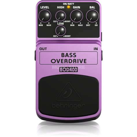 Behringer Bass Overdrive Bod400 behringer bod400 pedal bass overdrive