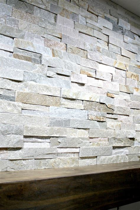install stacked stone tile   fireplace wall home ideas stone tile fireplace