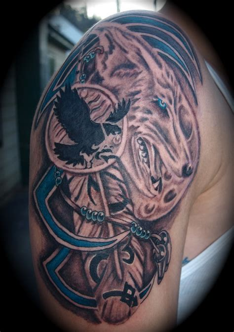native american wolf tattoo 40 cool american tattoos pictures hative