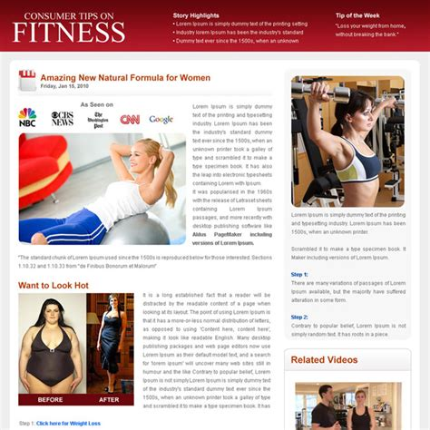 Flog Daily News And Magazine Style Landing Page Design Template For Your Business Conversion Fitness Landing Page Templates