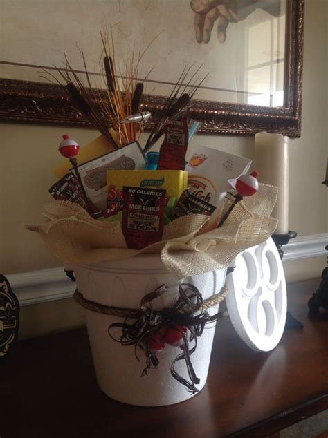 gift for fisherman fishing gift basket bigdiyideas