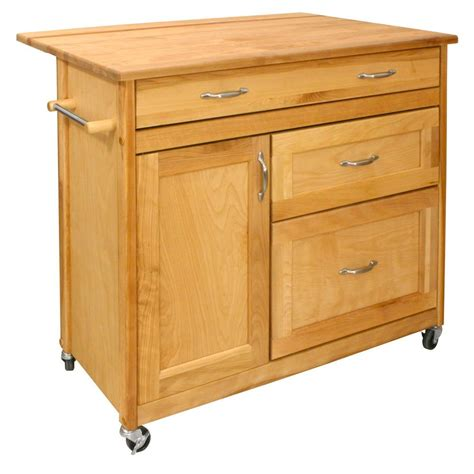catskill craftsmen deep storage kitchen catskill craftsmen natural kitchen cart with drawer 1521