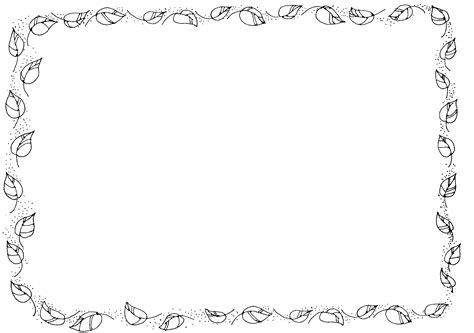 leaf border coloring pages cute animated free thanksgiving clipart black and white