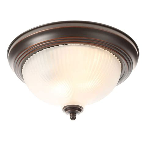 How To Make Ceiling Light Hton Bay 2 Light Pewter Ceiling Flushmount Hb1313 12 The Home Depot