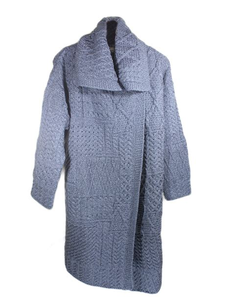Patchwork Cardigan - aran cardigan sweater patchwork knit merino wool