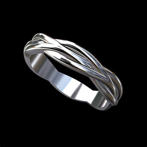 platinum modern twisted shank infinity s wedding ring