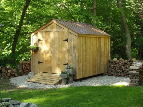 Rustic Storage Sheds by 8 X 10 Vermonter Backyard Storage Shed Rustic