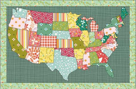 Patchwork Usa - usa quilt the electric quilt