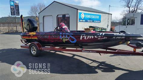 aluminum bass boat wraps watercraft signs for success