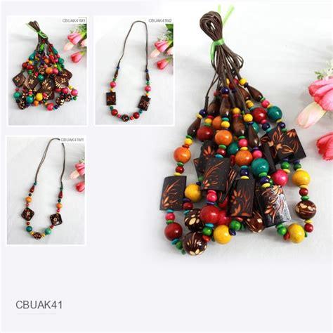 Kalung U Anjing Motif Kaki kalung tali tarik motif kayu ukir kalung etnik murah