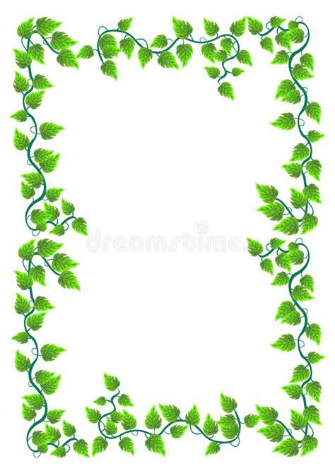 frame floral  folhas vetor ilustracao  vetor