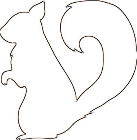 squirrel outline clipart best