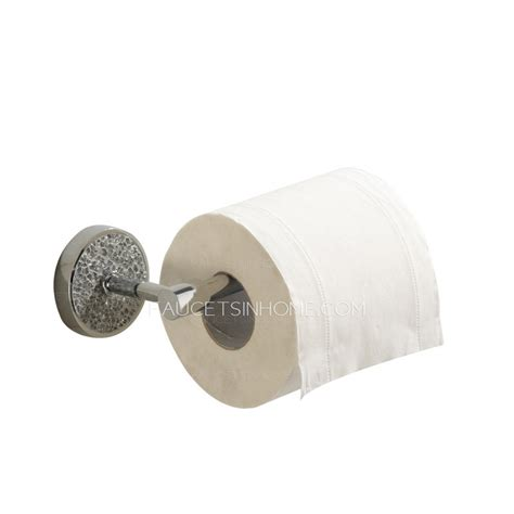 White Crystal Bathroom Toilet Paper Roll Holders Wall Mount