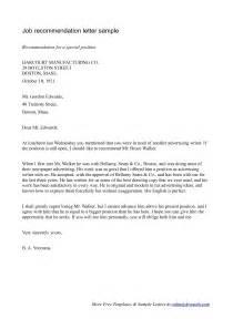 Letter of recommendation for employment sample cover letter sample