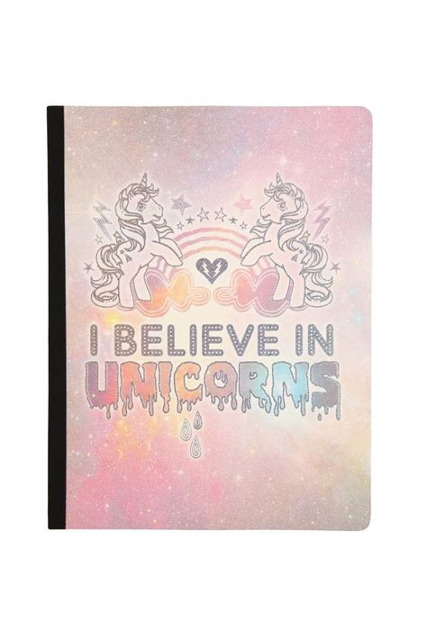 stuff unicorns books typo plain large notebook my pony unicorns