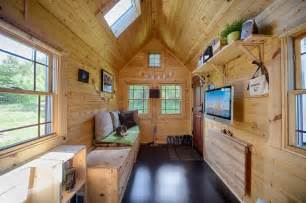 Tiny Home Interior by Mobile Tiny Tack House Is Entirely Built By Hand And