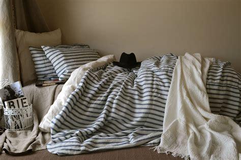 inspired bed linen vintage classic vintage inspired navy ticking linen