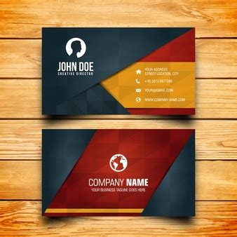 travel business card template with orange wavy designs visiting card vectors photos and psd files free