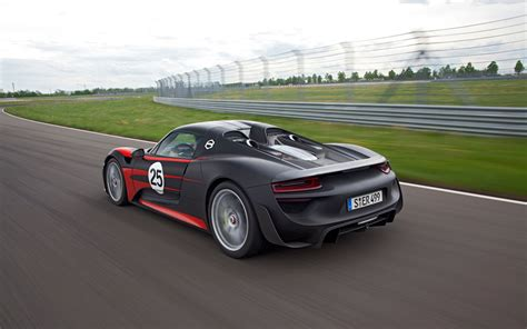 porsche 918 back porsche 918 spyder rear left view 6 photo 10
