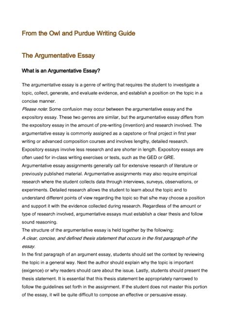 Argumentative Essay Exle by Argumentative Essay Research