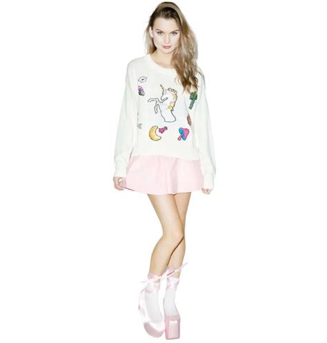 Sweater Fairytail Spo wildfox couture fairytail friends sweater