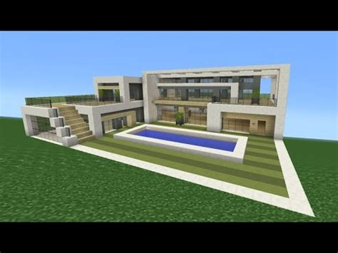 how do you make a house minecraft tutorial how to make a modern mansion youtube